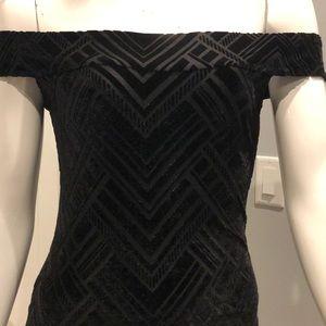 NWOT Velvet burn out dress